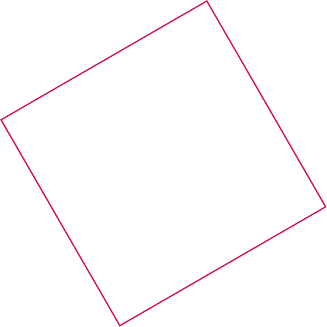 Pink square outline